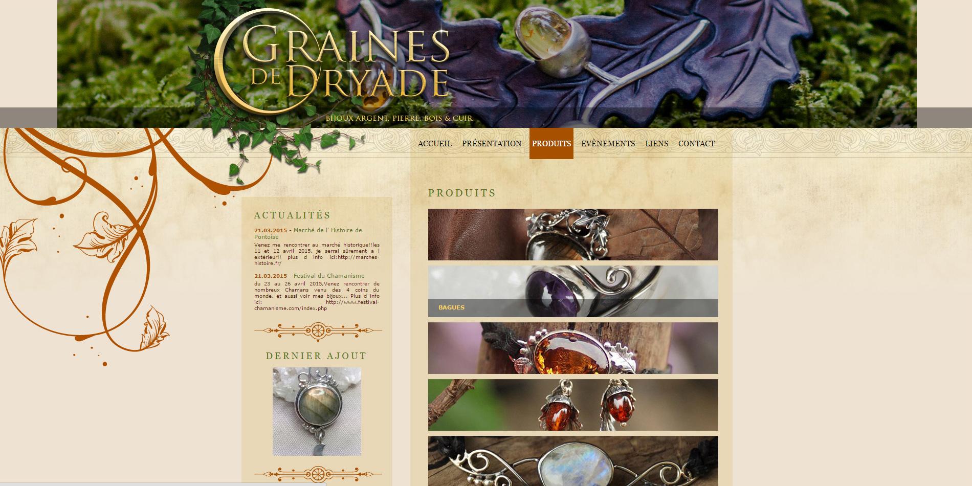 Graines de Dryade - Listing des catégories