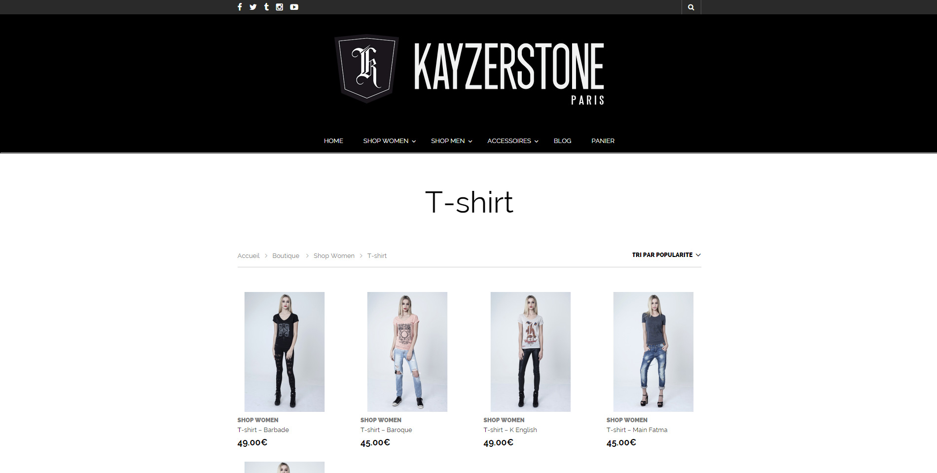 Kayzerstone - Listing de produits