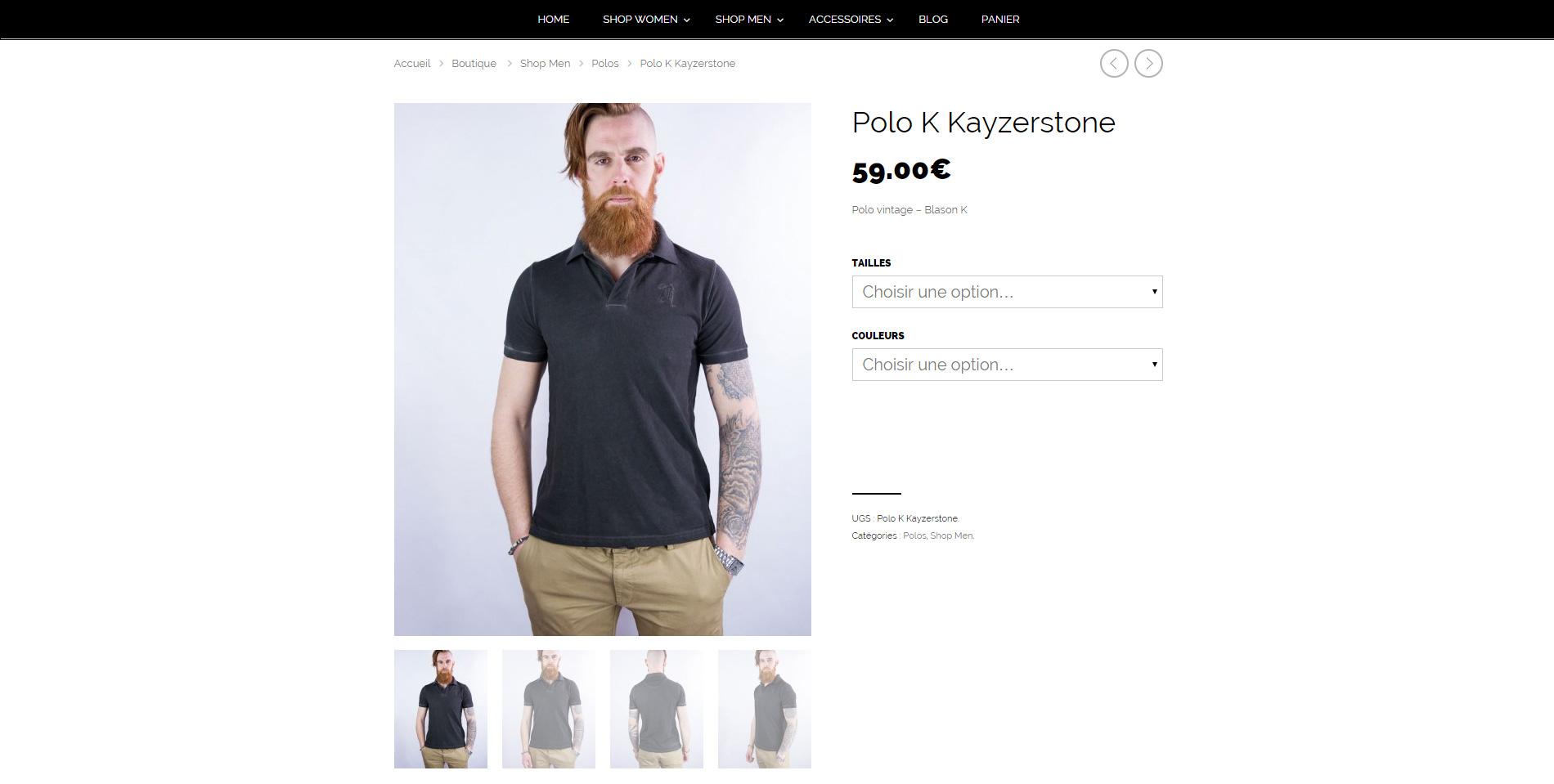 Kayzerstone - Page produit