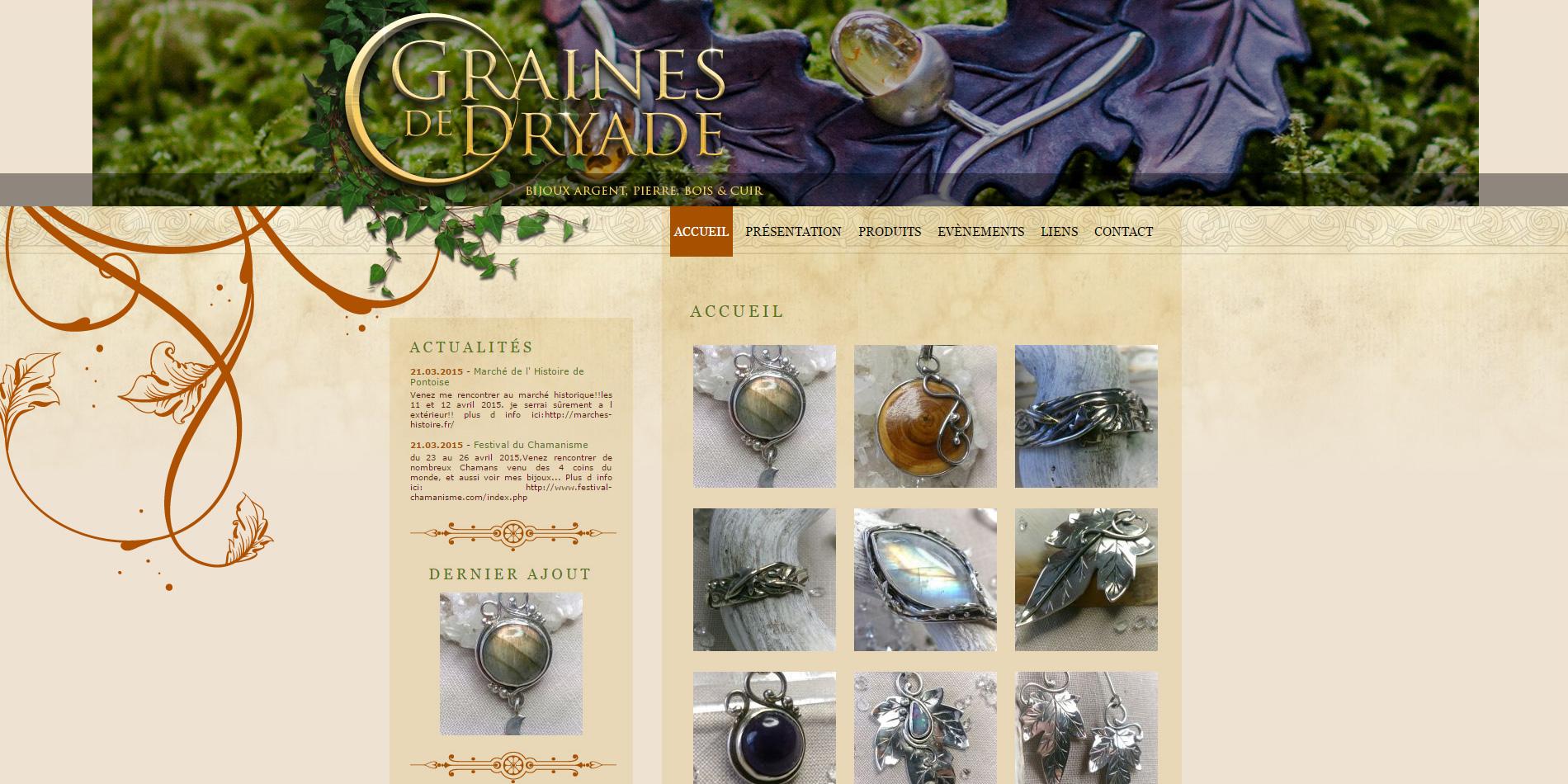 Graines de Dryade - Page d'accueil